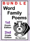 Word Family Poems - BUNDLE First and Second Grade Edition