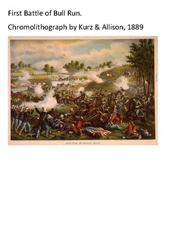 First Battle of Bull Run - July 1861 Word Search