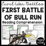 First Battle of Bull Run in the Civil War Reading Comprehension Worksheet