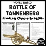 Battle of Tannenberg World War I Reading Comprehension Worksheet WWI