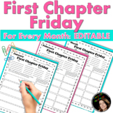 First Chapter Friday Tracker