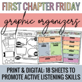 First Chapter Friday Graphic Organizers - Active Listening