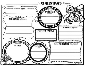 Christmas Research Activity: Christmas Graphic Organizer
