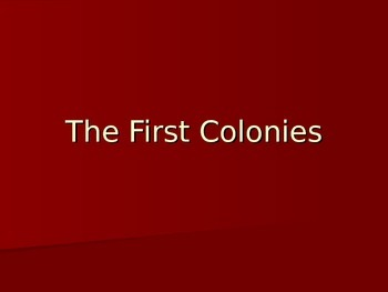 First Colonies