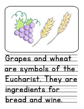 First Communion Activity- How To Draw With Handwriting Practice