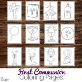 First Communion Coloring Pages - Perfect for Studying Catholic Sacraments!