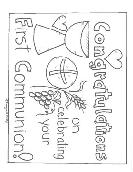 14+ Communion Coloring Page Printables ❤+❤ Catholic Communion Pages | 350x270