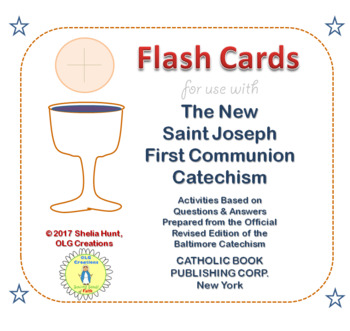 First Communion Worksheets / Flash Cards (Inksaver Edition)