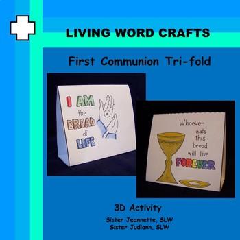 First Communion Tri-fold craft