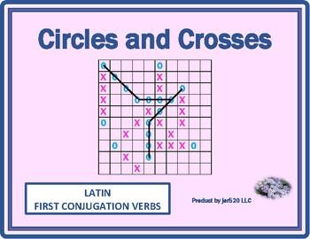 First Conjugation Latin verbs Mega Connect 4 game