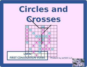 First Conjugation Latin verbs Mega Connect 4 game