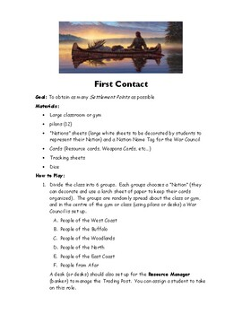 First Contact - A Trade or War Game (pdf)