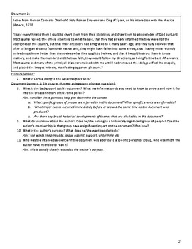 First Contact (AP US History - updated for 2017-2018 Rubrics)