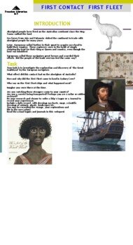 History of Australia: First Contact First Fleet: a simulation and webquest