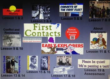 First Contacts and Australian Explorers (2 terms@1 lesson p/w, or 1 term@2 p/w)