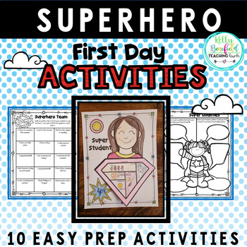 First Day Activities: Superhero Themed