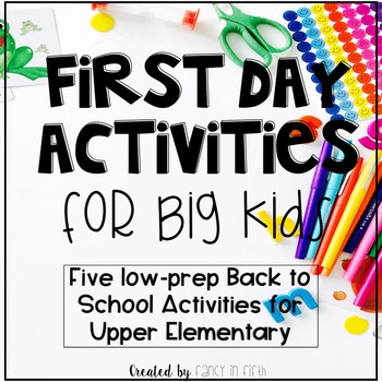 First Day Activities for Big Kids