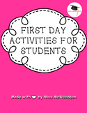 First Day Activities for Students