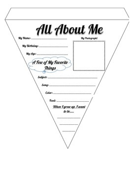 First Day Activity - All About Me Bunting!