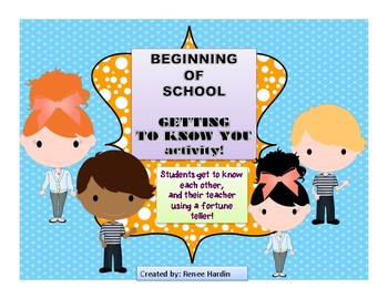 First Day Activity: Getting to Know You!