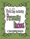 First Day Activity - Personality Blackout