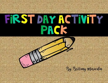 First Day Activity Pack