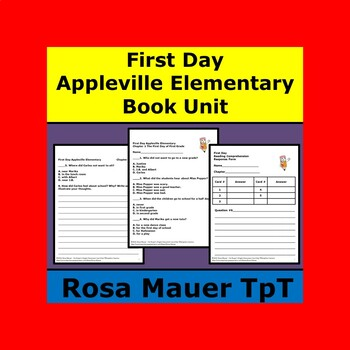 First Day Appleville Elementary Book 1