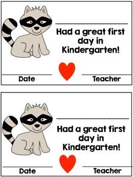 Editable First Day Award (raccoon theme)