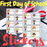 """First Day Back To School Goal Stickers """"This Year I Will"""" KIDS"""