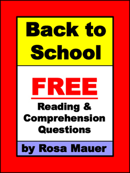 First Day Back to School Reading Free
