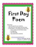 First Day Bee Poem