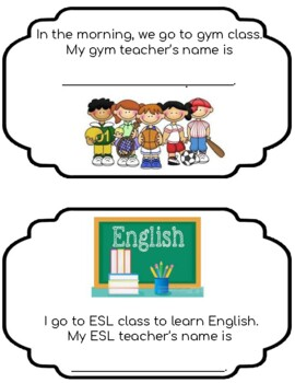 First Day Book for ESL students!