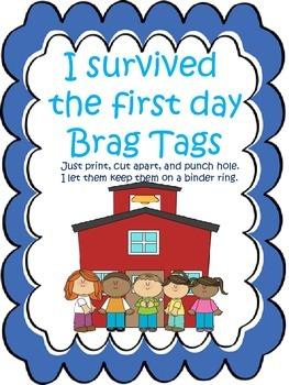 First Day Brag Tag Freebie