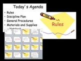 First Day Bundle - Rules and Procedures, discipline plan, etc