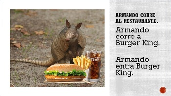 First Day CI Story Spanish 1+ armadillo & coyote (plus activity)