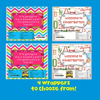 Beginning of the Year-Candy Bar Wrappers! Kindergarten