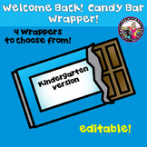 Candy Bar Wrappers Beginning of the Year Kindergarten
