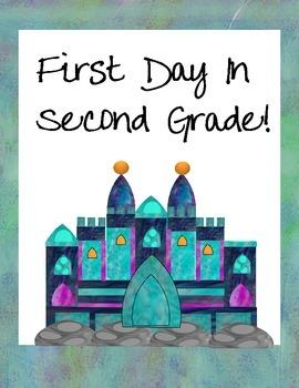 First Day Castle Signs Preschool-2nd Grade