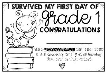First Day Certificates (I survived)