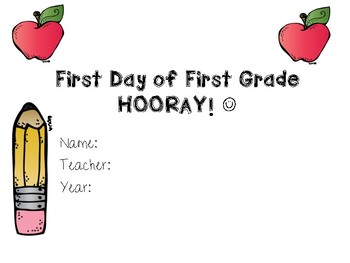 First Day Certificates (K-3)
