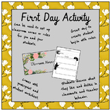 First Day Classroom Norms Activity