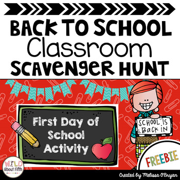 FREE Back to School Classroom Scavenger Hunt