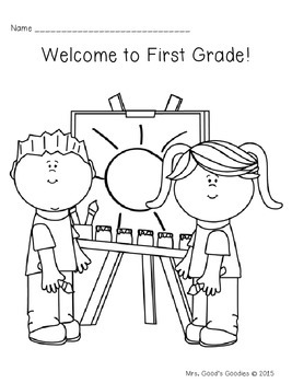 First Day Coloring Sheets