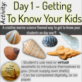 First Day Creative Getting to Know Your Students w/Digital