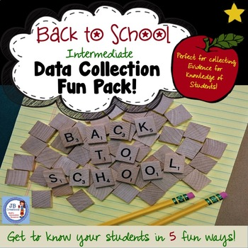 First Day Data Collection Fun Pack!  (3, 4, 5, 6 grade)