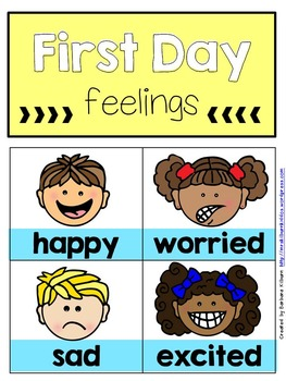 First Day Feelings Graph {FREE}