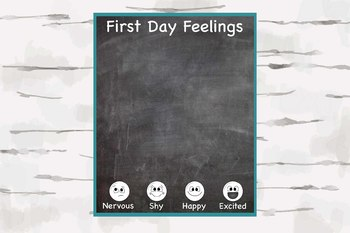 First Day Feelings Poster, 16x20 poster, First day of school, Back to school