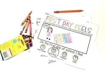 """First Day Feels"" Digital Back to School Activity"