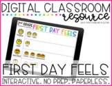 First Day Feels Digital Back to School Activity