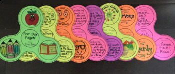 Back to School Activity and Bulletin Board - First Day Fidgets